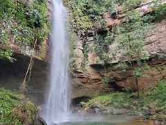 View of the massive Cachoeira da Roncadeira (Roncadeira waterfall)