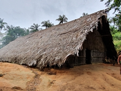 Main hut; Rio Negro village visit