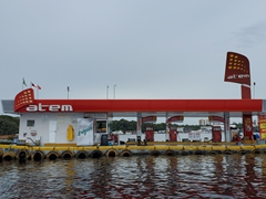 Floating gas station; Rio Negro