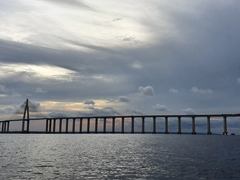 Rio Negro bridge, a cable-stayed bridge spanning 3.5 km over the Rio Negro