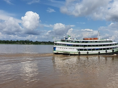 Another Amazon river ferry passes by