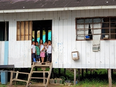 School kids taking a study break; Resguardo Indigena Macedonia