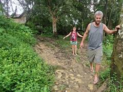 Flip flops not the best footwear in muddy Resguardo Indigena Macedonia