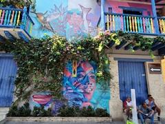 Amazing artwork near Trinidad Plaza; Cartagena