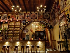 Cosy bar scene; Cartagena