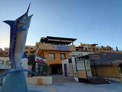 Marlin monument at the marina of Cabo San Lucas