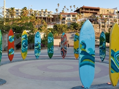 Cabo's surfboard sculpture