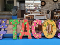Of course we were craving tacos after this sign!