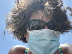 Wearing a face mask to prevent the spread of coronavirus