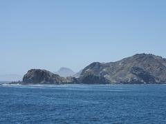Approaching a Baja Califonia Mexico lighthouse near Isla Santa Margarita