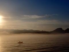 Early morning sunrise over Isla Santa Margarita