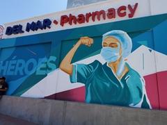Frontline healthcare workers depicted as heroes in this mural in Ensenada