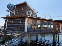 The aptly named Marina Restaurant and Bar; Ensenada