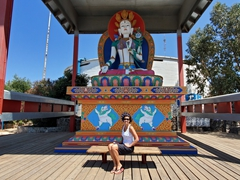 Visiting the Tibetan white Tara (donated by Nepal to Ensenada)