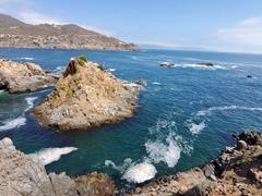 Coastal scenery near La Bufadora, a blowhole tourist attraction near Ensenada