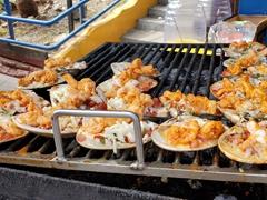 Grilled shrimp for sale near La Bufadora