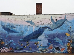 Whale mural in Warren, Ohio