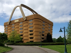 This 7 story tall giant picnic basket once served as the distinctive Longaberger company headquarters