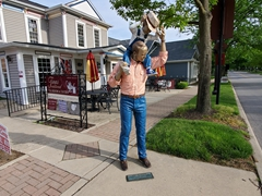 Carmel, Indiana has a wonderful art and design district with a series of J. Seward Johnson's sculptures hidden in the old town and city center