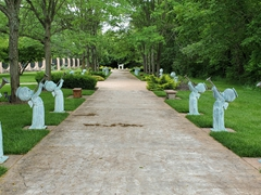 "Path leading to the ""Precious Moments"" chapel in Carthage, Missouri"