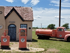 Vintage 1929 Route 66 Gas Station in McLean, Texas