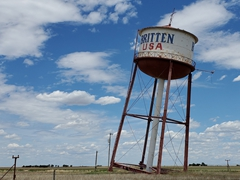 """Leaning Tower of Texas"" in Groom, Texas"
