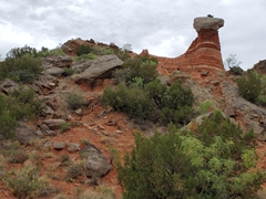 Hoodoo formation on the Givens Trail; Palo Duro Canyon State Park