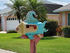 Unique mailbox at Ormond-by-the-Sea