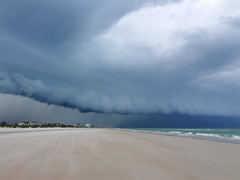 Storm clouds gather at Ponce Inlet, Florida