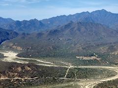 View of La Sierra de la Laguna mountain range as we approach Cabo San Lucas