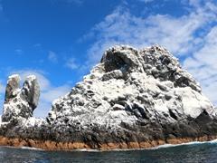 Roca Partida (split rock) is the smallest of the 4 Revillagigedo Islands
