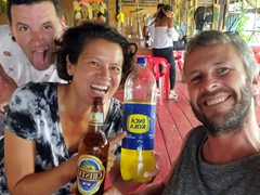 Three cocktails in three countries challenge - first stop is Peru where we drank Inca Shandy