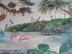 Street mural in Leticia, the gateway to the Amazon rainforest