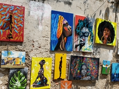Paintings for sale on Calle de San Juan