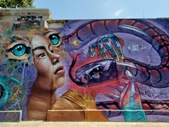Calle de la Sierpe has the best street art in Cartagena