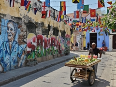 Fruit vendor on Calle de la Sierpe