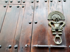 Aztec warrior door knocker