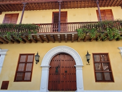 Typical architecture in the historic section of Cartagena