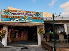 Tourists are slowly returning to Cozumel but most bars were empty
