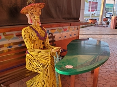 A Day of the Dead statue; Cozumel