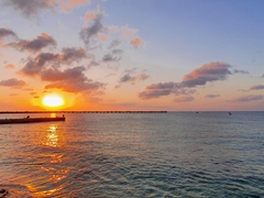 Our first beautiful sunset in Cozumel