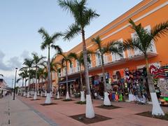 Souvenir shops in downtown Cozumel