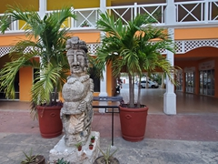 Statue in a courtyard at Plaza del Sol