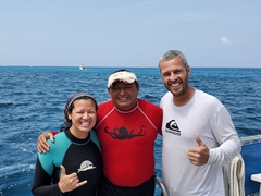 Posing with Geiser, our amazing divemaster
