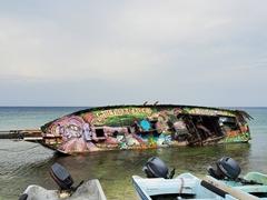 Colorful shipwreck