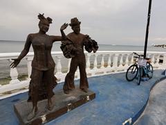 Los Carnavaleros statue - carnival is huge in Cozumel!