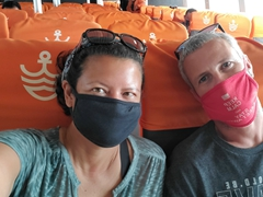 Wearing a mask is mandatory on the ferry