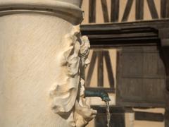 Detail of Cravant's water fountain