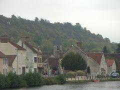 Quaint French villages dot the landscape on the Canal du Nivernais