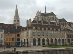 Our canal view in Auxerre!